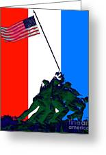 Iwo Jima 20130210 Red White Blue Greeting Card