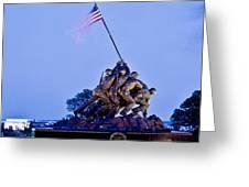 Iwo Jima Memorial At Dusk Greeting Card