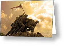 Iwo Jima Memorialized Greeting Card