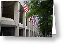 J Edgar Hioover Fbi Building Greeting Card