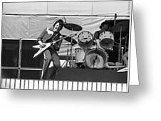 J. Geils On Stage In Oakland 1976 Greeting Card