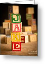 Jake - Alphabet Blocks Greeting Card