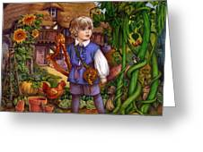 Jack And The Beanstalk By Carol Lawson Greeting Card