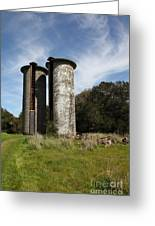 Jack London Ranch Silos 5d22161 Greeting Card by Wingsdomain Art and Photography