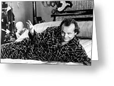 Jack Nicholson In The Witches Of Eastwick  Greeting Card by Silver Screen