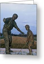 36u-245 Jack Nicklaus Sculpture Photo Greeting Card