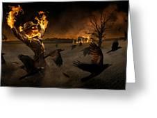 Jack-o\'-scarecrow Greeting Card