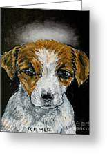 Jack Russell Terrier Angel Greeting Card by Jay  Schmetz