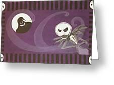 Jack Skellington With The Oggie Boogie Floor Cloth 2012 Greeting Card