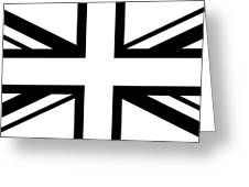 Jack White    White And Black Union Jack Greeting Card