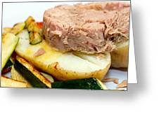Jacket Potato With Tuna Filling Greeting Card by Fizzy Image