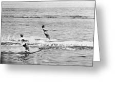 Jackie & John Glenn Water Ski Greeting Card