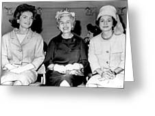 Jackie Kennedy At Luncheon Greeting Card