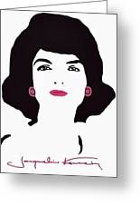 Jackie Kennedy Signature Pink Lips Greeting Card by Jost Houk