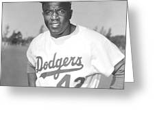 Jackie Robinson Poster Greeting Card
