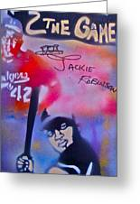 Jackie Robinson Red Greeting Card