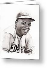 Jackie Robinson Greeting Card by Rosalinda Markle