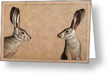 Jackrabbits Greeting Card by James W Johnson