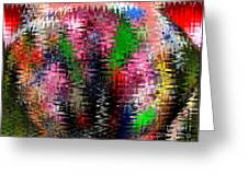 Jacks And Marbles Abstract Greeting Card