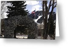 Jackson Hole Wyoming Antler Arch Greeting Card