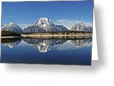 Jackson Lake Reflection Greeting Card