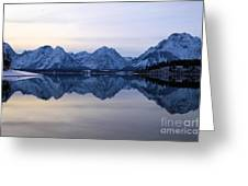 Jackson Lake Reflections Greeting Card