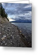 Jackson Lake Shore With Grand Tetons Greeting Card