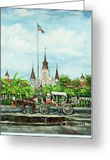 Jackson Square Carriage Greeting Card