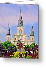 Jackson Square In The French Quarter Greeting Card