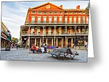 Jackson Square Reading Greeting Card