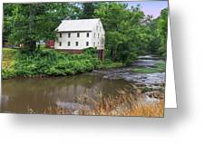 Jacksons Mill In The Rain Greeting Card