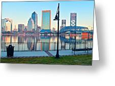 Jacksonville Across The St Johns River Greeting Card