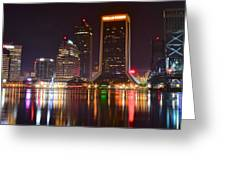Jacksonville Aglow Greeting Card