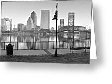 Jacksonville Black And White Ay Greeting Card