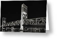 Jacksonville Florida Main Street Bridge Greeting Card
