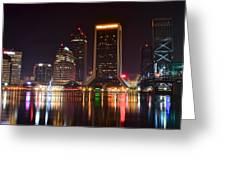 Jacksonville Night Greeting Card