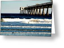 Jacksonville Pier Greeting Card