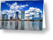 Jacksonville Skyline Greeting Card