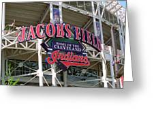 Jacobs Field - Cleveland Indians Greeting Card