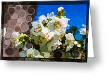 Jacobs Ladder Abstract Flower Painting Greeting Card