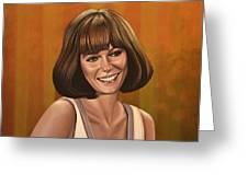 Jacqueline Bisset Painting Greeting Card