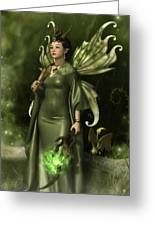 Jade Faery Queen Greeting Card