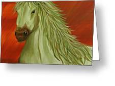 Jade Horse Greeting Card