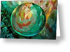 Jaded Jewels Greeting Card by Robin Moline
