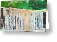 Jagala Waterfalls  Greeting Card