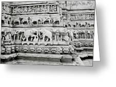 Jagdish Temple Sculpture Greeting Card