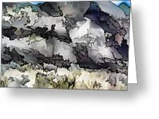 Jagged And Flowing Greeting Card