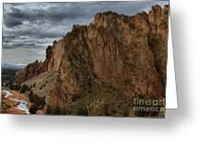 Jagged Peaks At Smith Rock Greeting Card