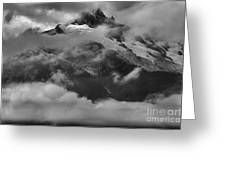 Jagged Peaks Glaciers And Storms Greeting Card