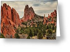 Jagged Peaks Of The Gods Greeting Card